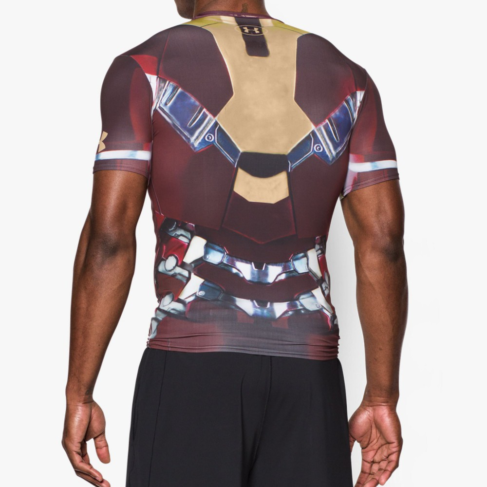 T shirt iron man compression under armour alter ego for Iron man shirt for men