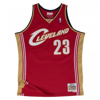 Swingman Jersey - Lebron James  23 Red/gold | Mitchell & Ness
