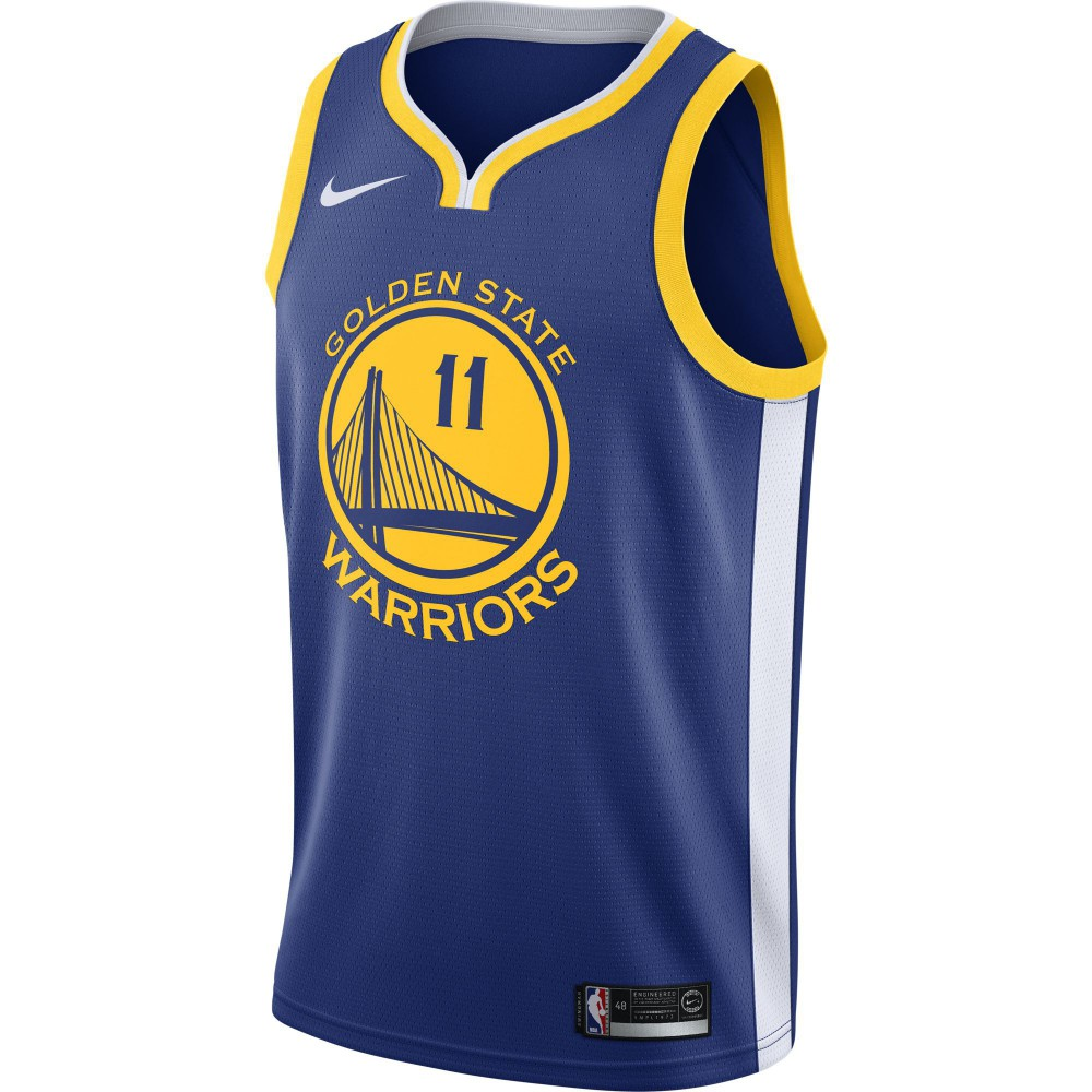 premium selection 32137 6be2e Maillot Klay Thompson Golden State Warriors Nike Icon Edition Swingman  Jersey rush blue white