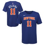 Color  Blue of the product T-Shirt NBA Enfant Frank Ntilikina New-York Knicks Nike