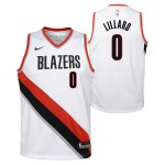 Color  Blanc du produit Swingman Association Jersey Pl Trailblzrs Lillard...