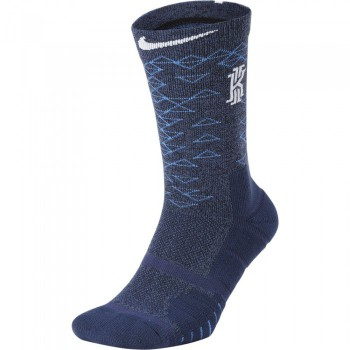 Chaussettes Kyrie Elite Quick Crew Basketball Socks multi-color/lt racer blue/white | Nike