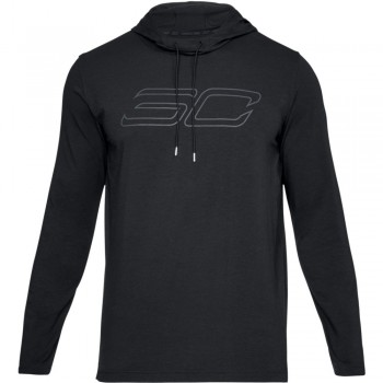 Sc30 Ls Hooded Tee-blk | Under Armour