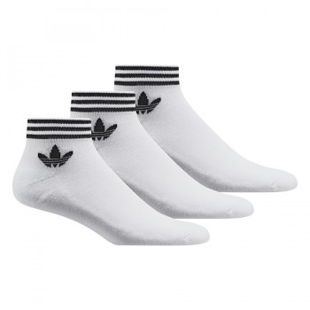Pack 3 paires chaussettes adidas Trefoil Mid white | adidas