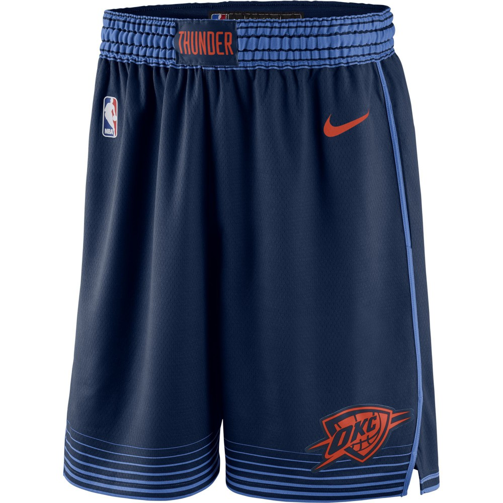 a7bcaac4ebbc Nike. Short Oklahoma City Thunder Statement Edition Swingman college navy signal  blue team orange (