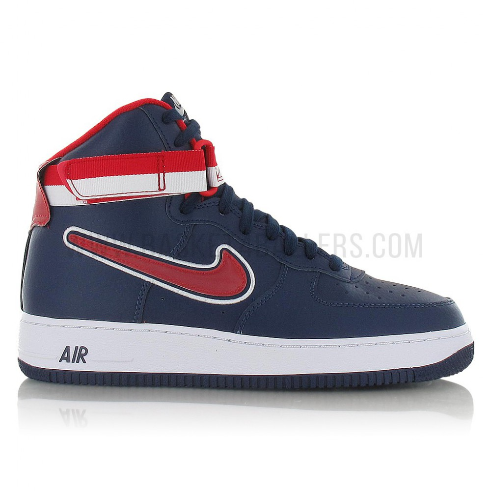 save off 6546a f8e0c Nike Air Force 1 High  07 Lv8 Sport midnight navy university red-white
