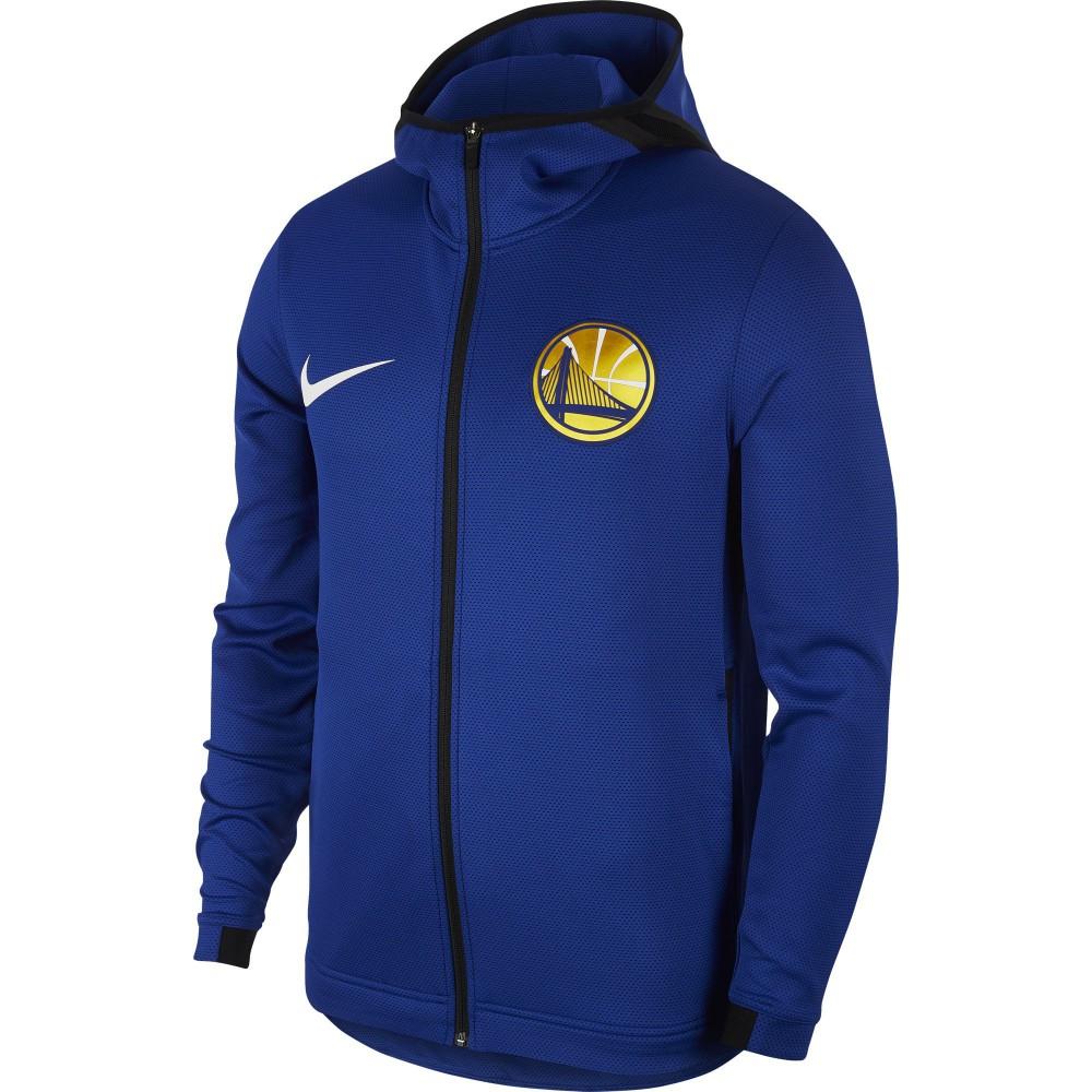 1cb5faada Sweat Golden State Warriors Nike Therma Flex Showtime rush blue black white  (image