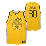 Color  Jaune du produit Maillot NBA Enfant Stephen Curry Golden State...