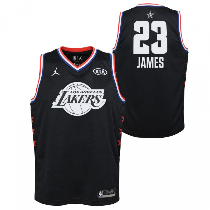 Black All Star Jersey Lakers Lebron James Nike