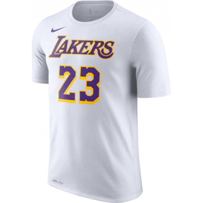 more photos c6571 34eb4 T-shirt Lebron James Los Angeles Lakers Nike Dri-fit white/james lebron