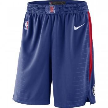 d95a9901b5ccf Short La Clippers Icon Edition Swingman rush blue white university  red white