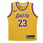 Color  Yellow of the product Replica Icon Road Jersey - Lakers Lebron James Nba Nike