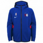 Color  Blue of the product Thermaflex Travel Hood Showtim 76ers Nba Nike