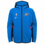 Color  Bleu du produit Sweat NBA Enfant OKC Thunder Nike Thermaflex Travel...