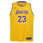 Color  Yellow of the product Swingman Icon Jersey Player Lakers Lebron James Nba...