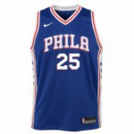 Color  Blue of the product Maillot NBA Enfant Swingman Icon Philadelphia 76ers...