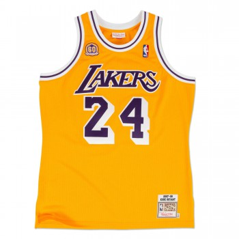 Authentic Jersey '07 La Lakers Ajy4cp19008-lalltgd07kbr-2xl NBA | Mitchell & Ness