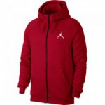 Sweat Jordan Sportswear Jumpman Fleece Full-zip Hoodie gym red/white (image n°1)