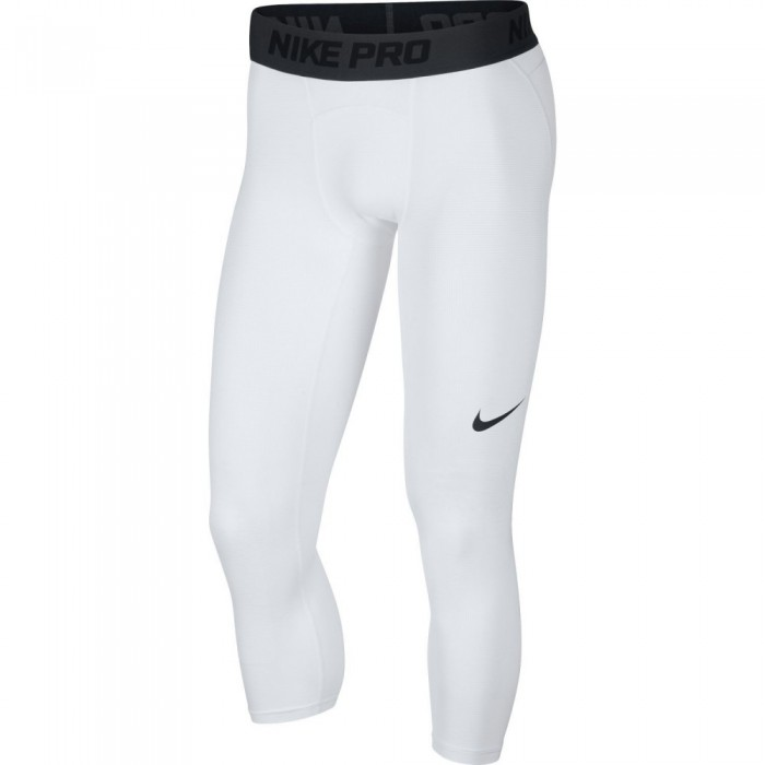 Collant 3/4 Nike Pro white/black