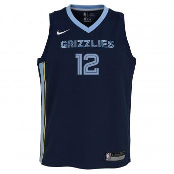 FILWS Maillot de Basket-Ball pour Hommes-Ja Morant-Memphis Grizzlies # 12 Grizzlies Sportswear T-Shirt Maillot de Basket-Ball en Mesh brod/é Swingman