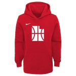 Color  Red of the product Hoodie Po Club Fleece Ce Jazz Nba Nike