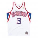 Maillot NBA Allen Iverson Philadelphia 76ers 2000-2001 Swingman Mitchell&Ness White (image n°4)