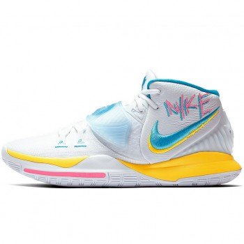 Kyrie 6 white/blue fury-opti yellow-digital pink | Nike