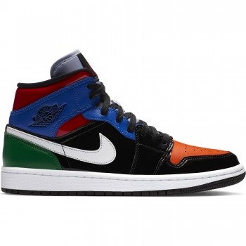 Air Jordan 1 Mid Se black/university red-hyper royal | Air Jordan