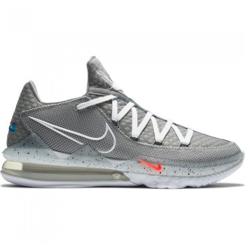 Lebron 17 Low particle grey/white-lt smoke grey-black | Nike