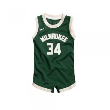 Boys Replica Onesie Jersey Milwaukee Bucks Antetokounmpo Giannis NBA | Nike